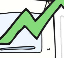 cartoon business document Sticker