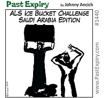 ALS Ice Bucket Challenge - Saudi Arabia Edition Photographic Print