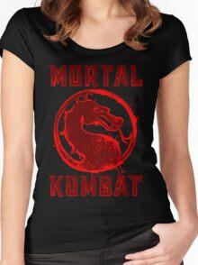 MORTAL  SPLATTER Women's Fitted Scoop T-Shirt