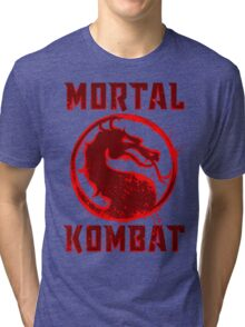 MORTAL  SPLATTER Tri-blend T-Shirt