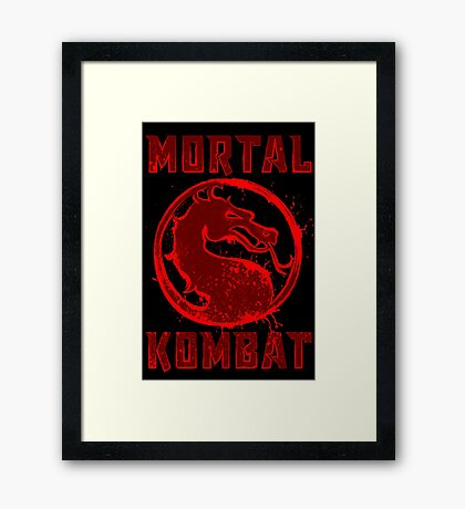 MORTAL  SPLATTER Framed Print