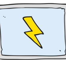 cartoon laptop computer Sticker