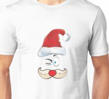 Santa Claus Red Hat Merry Christmas Unisex T-Shirt