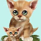 Mama Cat and her Kitten  by LoneAngel