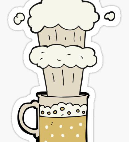 cartoon beer Sticker