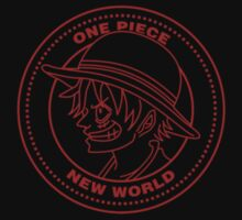 One Piece - Luffy Badge (Red) Baby Tee