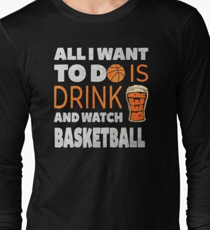 BASKETBALL BEER Long Sleeve T-Shirt
