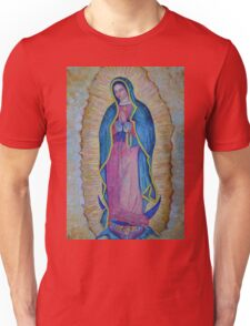 Our Lady of Guadalupe painting, Virgin of Guadalupe picture Virgin Mary print Black Madonna Mexico Unisex T-Shirt