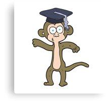 cartoon graduate monkey Canvas Print