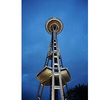 Space Needle at Night Photographic Print