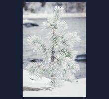 Small tree covered in snow Kids Tee