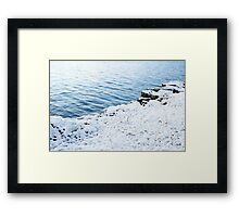 Snow and water Framed Print