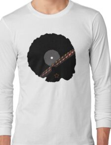 Afro Vinyl Record - African Woman Long Sleeve T-Shirt