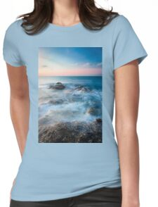 Waves and rocks long exposure Womens Fitted T-Shirt
