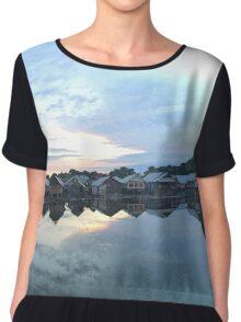 Landscape Reflection  Pillow Chiffon Top