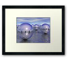 Spheres On The Water Framed Print