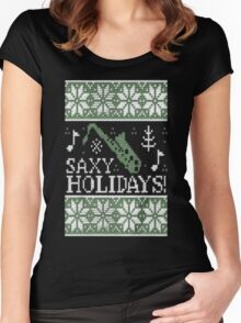 Tenor Saxy Holidays T-Shirt Women's Fitted Scoop T-Shirt