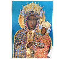 Our Lady of Czestochowa Black Madonna Poland Virgin Mary Painting Poster