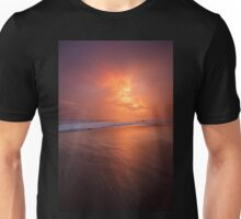 Sunset clouds and long wave Unisex T-Shirt