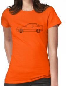 Vauxhall / Opel Astra GTE Line drawing artwork Womens Fitted T-Shirt