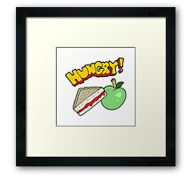 cartoon packed lunch Framed Print