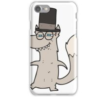 cartoon little wealthy wolf iPhone Case/Skin