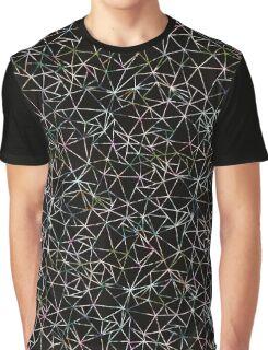 Black Geometric Triangle Pattern Bold Modern Graphic T-Shirt