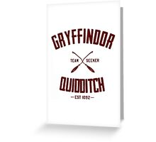 gryffindor Greeting Card