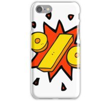 cartoon percentage symbol iPhone Case/Skin