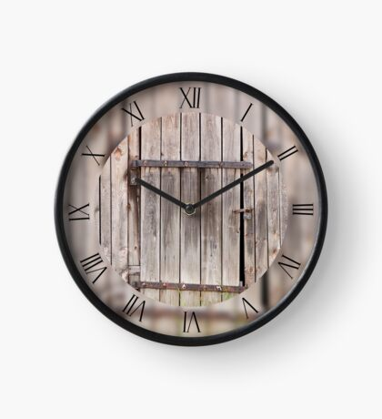 Wood old shed dilapidated Clock