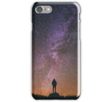 Silhouette under the stars iPhone Case/Skin