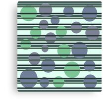 Simple green pattern Canvas Print