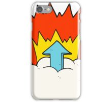 cartoon upload to the cloud iPhone Case/Skin
