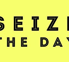 Seize the Day (Inline Black) by dontchasesheep