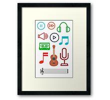 Musical Instruments Framed Print