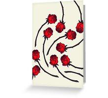Rose - Red/Cream Greeting Card