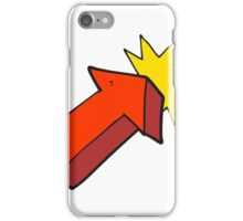 cartoon pointing arrow symbol iPhone Case/Skin