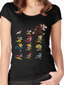 goku evolution Women's Fitted Scoop T-Shirt