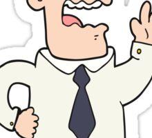 cartoon businessman Sticker
