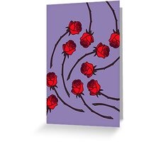 Rose - Lilac/Red Greeting Card