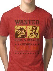 Wanted - Boris & Natasha Tri-blend T-Shirt