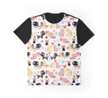 funny pattern lovers cats Graphic T-Shirt