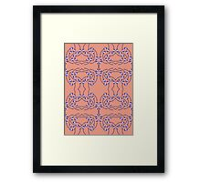 Rose - Peach and Willow Framed Print