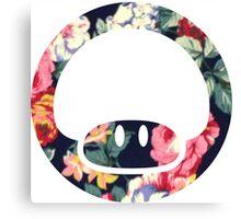 Floral Mario Bros Canvas Print