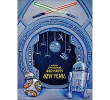 StarWars Marry Christmas and Happy New Year Photographic Print