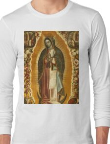 Our Lady of Guadalupe, Virgin Mary, Blessed Mother Long Sleeve T-Shirt