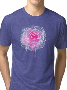 Watercolor Rose Geometricst Tri-blend T-Shirt