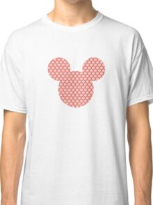Mickey Silhouette-red snowflake Christmas pattern Classic T-Shirt