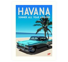 Havana, Cuba - Summer all year around Art Print