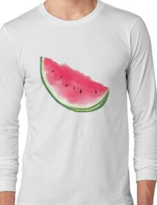 Watermelon Summer Moon  Long Sleeve T-Shirt